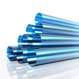 Blauwe transparante pijpen royalty-vrije illustratie