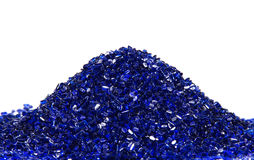 Blauwe transparante plastic hars Stock Afbeeldingen