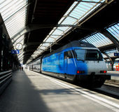 Blauwe trein Royalty-vrije Stock Afbeelding