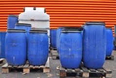 Blauwe trommels Stock Foto's