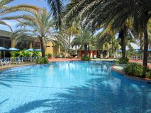 blauwe tropische pool Royalty-vrije Stock Foto