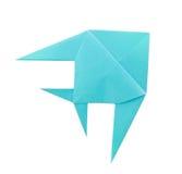 Blauwe tropische vissen van origami Royalty-vrije Stock Foto's