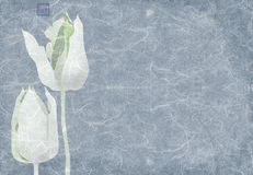 Blauwe tulpencollage royalty-vrije illustratie