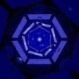 Blauwe tunnel Stock Afbeeldingen