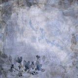 Blauwe Uitstekende Bloemendocument Achtergrond Royalty-vrije Stock Foto's