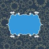 Blauwe uitstekende naadloze patroonachtergrond Vectorillustratie eindeloos ontwerp Abstract geometrisch frame stylish Stock Foto