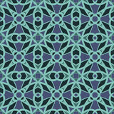 Blauwe universele vector naadloze patronen, het betegelen Geometrische ornamenten royalty-vrije illustratie