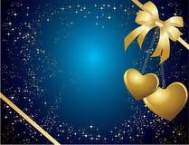 Blauwe valentijnskaartenkaart Royalty-vrije Stock Foto