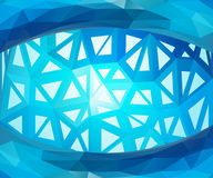 Blauwe vectorachtergrond Stock Afbeelding