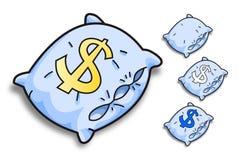 Blauwe vectorhoofdkussens Stock Illustratie