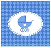 Blauwe vectorillustratie van een baby Royalty-vrije Stock Foto