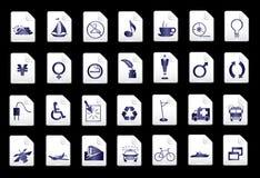 Blauwe vectorpictogrammen Royalty-vrije Stock Afbeeldingen