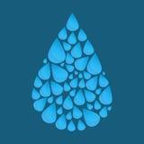 Blauwe vectorwaterdaling stock illustratie