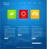 Blauwe VectorWebsite voor zaken Royalty-vrije Stock Fotografie