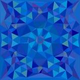 Blauwe veelhoekige het effect van het het ontwerpmalplaatje van de kristalbanner diamant Stock Foto