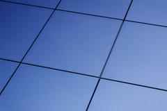 Blauwe venstersachtergrond Royalty-vrije Stock Afbeeldingen