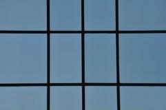 Blauwe vensterssamenvatting Royalty-vrije Stock Foto's