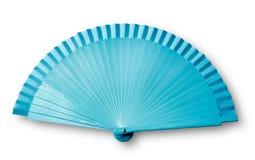 Blauwe ventilator stock foto