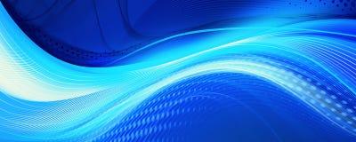 Blauwe verbazende golvenachtergrond Stock Afbeelding