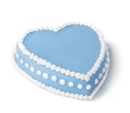 Blauwe verfraaide cake Stock Foto's