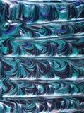 Blauwe verfsamenvatting Stock Fotografie