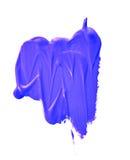 Blauwe verfsteekproef Stock Foto