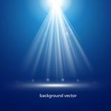 Blauwe verlichting als achtergrond vector illustratie