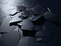Blauwe vernieling gebarsten oppervlakte chaotische achtergrond Royalty-vrije Stock Afbeelding