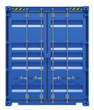 Blauwe verschepende container Royalty-vrije Stock Afbeelding