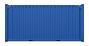 Blauwe verschepende container Royalty-vrije Stock Foto