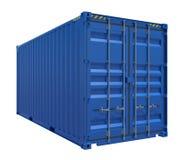 Blauwe verschepende container Stock Afbeeldingen
