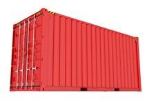 Blauwe verschepende container Royalty-vrije Stock Afbeeldingen