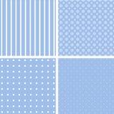Blauwe verschillende patronen Royalty-vrije Stock Afbeelding