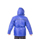 Blauwe vest achtermening Royalty-vrije Stock Afbeeldingen