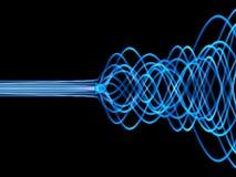 Blauwe vezels stock illustratie