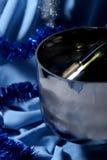 Blauwe viering royalty-vrije stock afbeeldingen