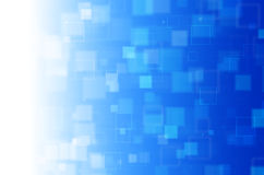 Blauwe vierkante abstracte achtergrond Stock Foto's