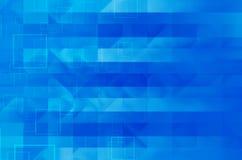 Blauwe vierkante abstracte achtergrond Royalty-vrije Stock Fotografie