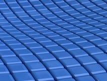 Blauwe vierkante achtergrond Royalty-vrije Stock Foto's