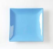 Blauwe vierkante plaat Royalty-vrije Stock Fotografie