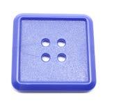 Blauwe Vierkante plastic knoop royalty-vrije stock fotografie