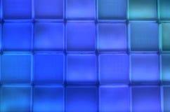 Blauwe vierkante rij en kolom Stock Foto's