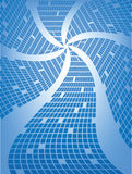Blauwe Vierkante Zonnestraal Stock Afbeeldingen