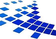 Blauwe vierkanten Stock Afbeeldingen