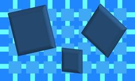 Blauwe Vierkanten Stock Foto