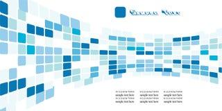 Blauwe vierkanten Stock Fotografie