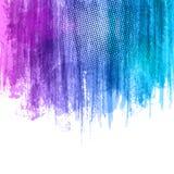 Blauwe Violet Paint Splashes Gradient Background Vectoreps 10 ontwerpillustratie met plaats voor uw tekst en embleem Royalty-vrije Stock Foto