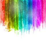 Blauwe Violet Paint Splashes Gradient Background Vectoreps 10 ontwerpillustratie met plaats voor uw tekst en embleem Stock Afbeeldingen