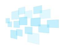 Blauwe virtuele pictogrammen Stock Foto's