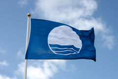 Blauwe Vlag Royalty-vrije Stock Afbeelding
